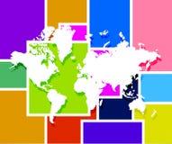 World map illustration design Royalty Free Stock Photo