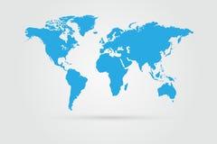 World Map Illustration. On a grey background royalty free illustration