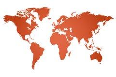 World Map Illustration. Isolated on a white background stock illustration