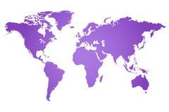 World Map Illustration. Purple world map illustration isolated on a white background royalty free illustration