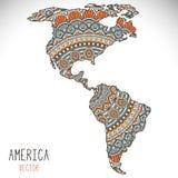 World Map Illustration Royalty Free Stock Photography