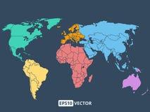 World map illustration, stock vector royalty free stock photography