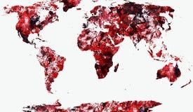 World Map Illustration Royalty Free Stock Photo