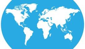 World Map Illustration. On white royalty free illustration