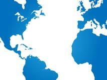 World Map Illustration on a white background Stock Photography