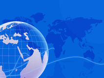 World Map Indicates Backgrounds Globalization And Globalise Royalty Free Stock Photo
