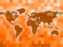 World Map Indicates Countries Backdrop And Template Stock Image