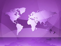 World Map Indicates Globalization Continents And Backgrounds Stock Photos