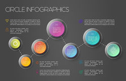 World map infographic concept Royalty Free Stock Photo