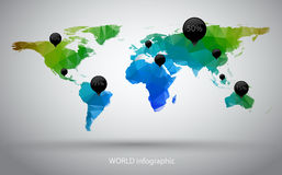 World map infographic Stock Images