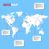 World map with infographic elements. Vector Royalty Free Stock Images