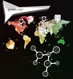 World map infographic template. All countries are selectable Stock Images