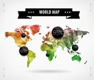 World map infographic template. All countries are selectable Royalty Free Stock Photos