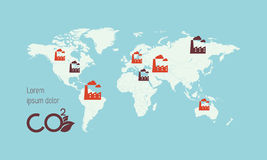 World map infographic template countries are Royalty Free Stock Images