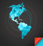 World map infographic template Stock Photo