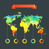 World map infographic template Stock Photos