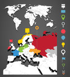 World map infographic template Stock Photography