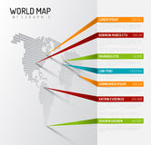 World map infographic template with pointer marks Stock Photo