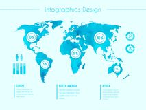 World map infographic template Stock Image