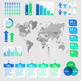 World map infographic. Royalty Free Stock Image
