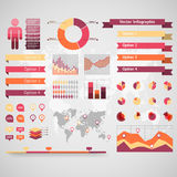 World map infographic. Royalty Free Stock Photos