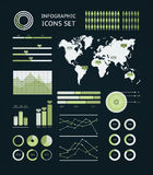 World map infographic. Royalty Free Stock Photography