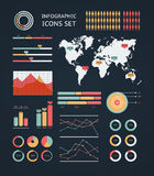World map infographic. Royalty Free Stock Photo