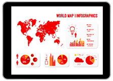 World Map Infographics Royalty Free Stock Photo