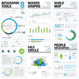 World map infographics & business visualization vector elements Stock Images