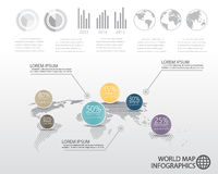 World map infographics Royalty Free Stock Photos