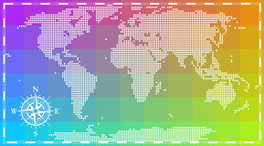World map for infographics. World map painted dots. For infographics Royalty Free Stock Photo