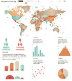 World map infographics Stock Photos