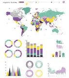 World map infographics Royalty Free Stock Photography