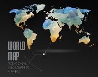 World Map and Information Graphics Stock Photos
