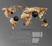 World Map and Information Graphics Stock Photo