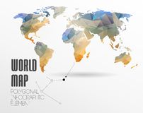 World Map and Information Graphics Royalty Free Stock Photography