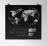 World Map and Information Graphics Royalty Free Stock Image