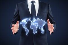 World map interface Royalty Free Stock Image