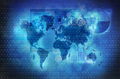 World map internet concept Stock Images