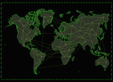 World map internet network Royalty Free Stock Photo