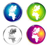 World Map Isolated Royalty Free Stock Images
