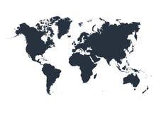 World map isolated on white background. Vector illustration. Eps 10 Stock Image