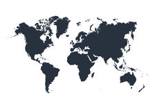 World map isolated on white background. Vector illustration. Stock Image