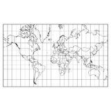 World map isolated on white background  vector Royalty Free Stock Images