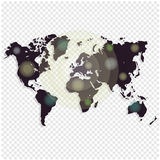 World map isolated on white background. Worldmap template for website, design, cover, annual reports, infographics. Vector illustration. Black Map Vector Stock Photography