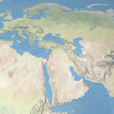 World Map, Israel Stock Images