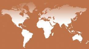 World Map IV. A world map background illustration Stock Photography