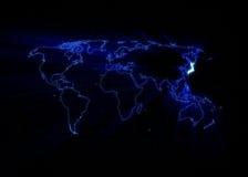 World Map - Japan Royalty Free Stock Photography