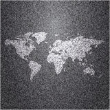 World map on jeans background Stock Images