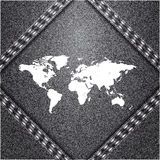 World map on jeans background Royalty Free Stock Photography
